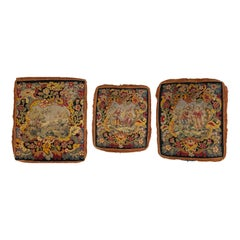 Set of 3 Wool Tapestry Chair Upholsteries