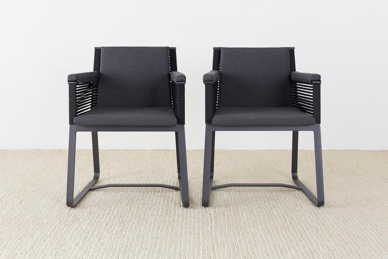 Set of 30 Kettal Landscape Dining Armchairs with Pads In New Condition For Sale In Oakland, CA