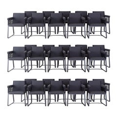 Set of 30 Kettal Landscape Dining Armchairs with Pads