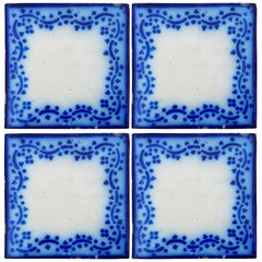 Set of 35 Antique Ceramic Tiles by Pas De Calais Desvres, France, circa 1850s
