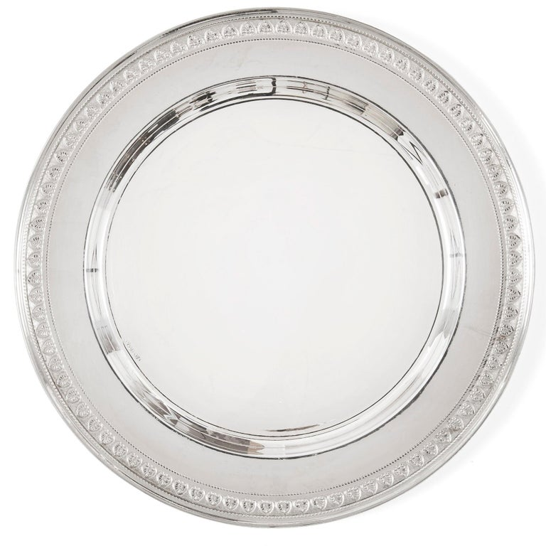 20th Century Set of 38 Antique Egyptian Silver Plates For Sale