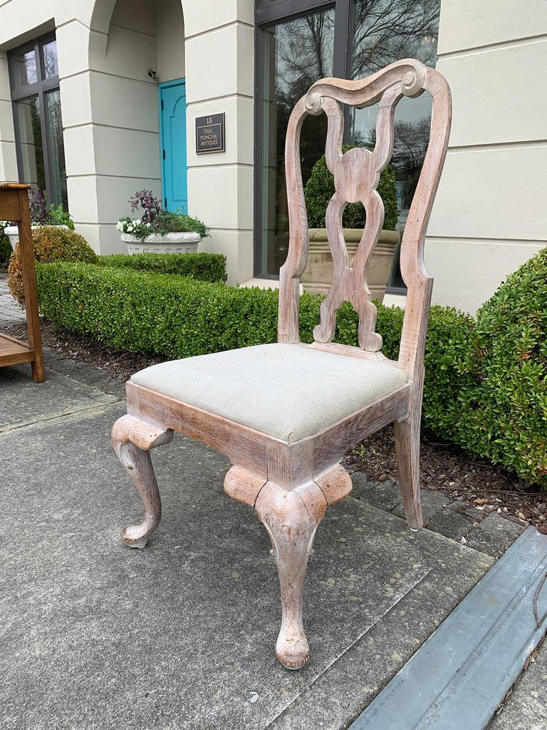 Set of Four 18th-19th Century English Stripped Oak Side Chairs In Good Condition For Sale In Atlanta, GA
