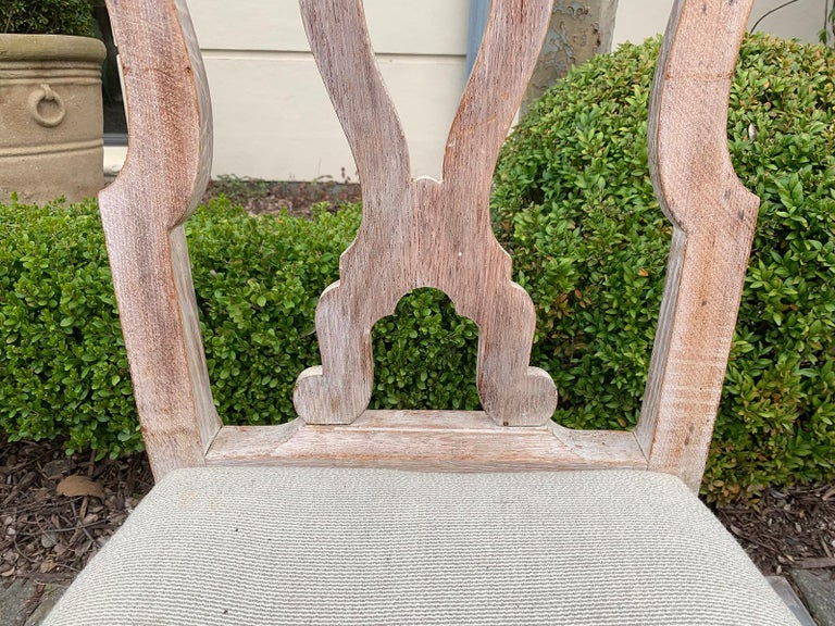 Set of Four 18th-19th Century English Stripped Oak Side Chairs For Sale 6