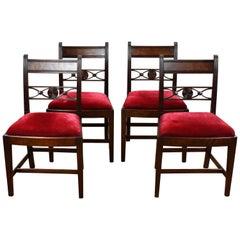 Set of 4 18th Century English George III Mahogany Dining Chairs