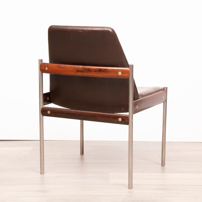 Norwegian Set of 4 1960s Dining Conference Chairs by Sven Ivar Dysthe for Dokka Mobler For Sale