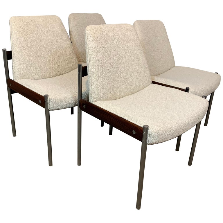 Set of 4 1960s Rosewood Dining Chairs by Sven Ivar Dysthe for Dokka Mobler For Sale