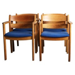 Set of 4 1970s Danish Midcentury Chairs by F. D. B. Mobler