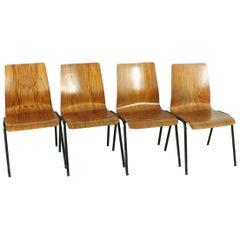 Set of 4 1960s Teak Chairs