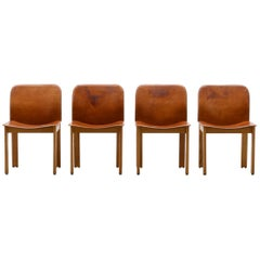 Set of 4 Afra & Tobia Scarpa Dining Chairs, Italy, 1970s