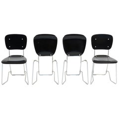 Set of 4 Alu-Flex Chairs by Armin Wirth