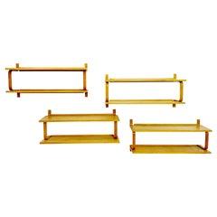 Set of 4 Alvar Aalto Wall Shelfs