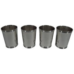 Set of 4 American Sterling Silver Mint Juleps by Manchester