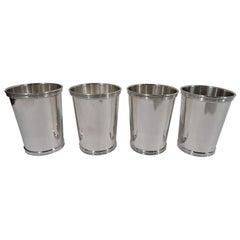 Set of 4 American Sterling Silver Mint Juleps by William Rogers