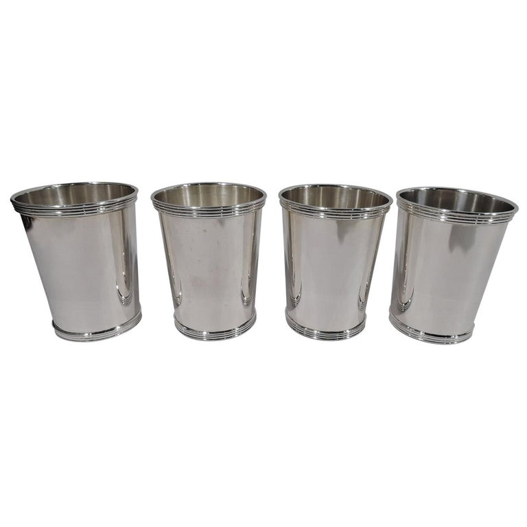 Set of 4 American Sterling Silver Mint Juleps by William Rogers For Sale