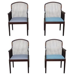 Set of 4 Andover Spindle Framed Dining Chairs by David Allen for Stendig