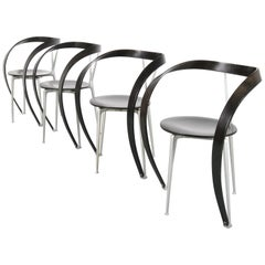 """Set of 4 Andrea Branzi """"Revers"""" Chairs for Cassina, Italy, 1990"""