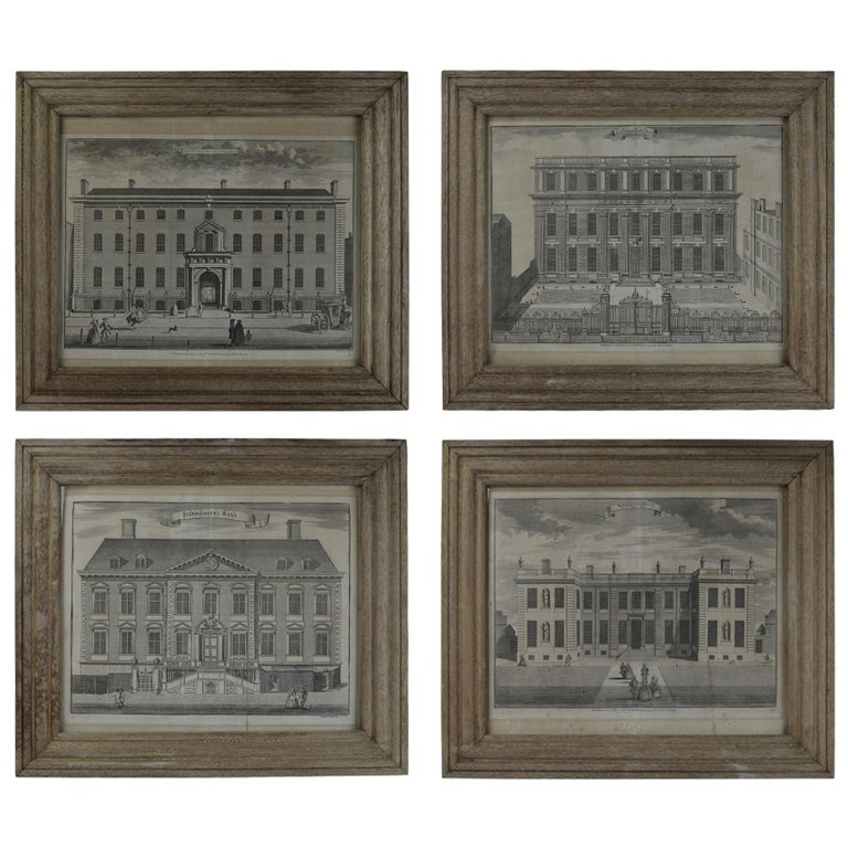 Set Of 4 Antique Architectural Prints