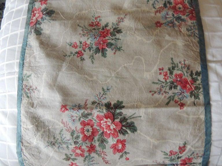 Country Set of '4' Antique Floral Valances Textiles For Sale