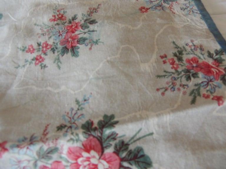 French Set of '4' Antique Floral Valances Textiles For Sale
