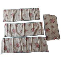 Set of '4' Antique Floral Valances Textiles