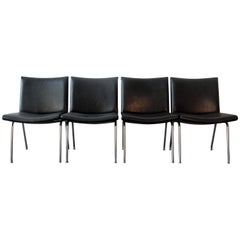 Set of 4 AP 40 Airport Chairs by Hans Wegner for AP Stolen, Denmark, 1950s