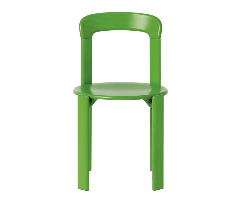 Mid-Century Modern Set of 4 Apple Green Rey Chairs by Dietiker, a Swiss Icon Since 1971 For Sale