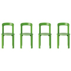 Set of 4 Apple Green Rey Chairs by Dietiker, a Swiss Icon Since 1971