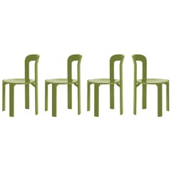 Set of 4 Arik Levy SE1 Green Rey Chairs by Dietiker, a Swiss Icon Since 1971