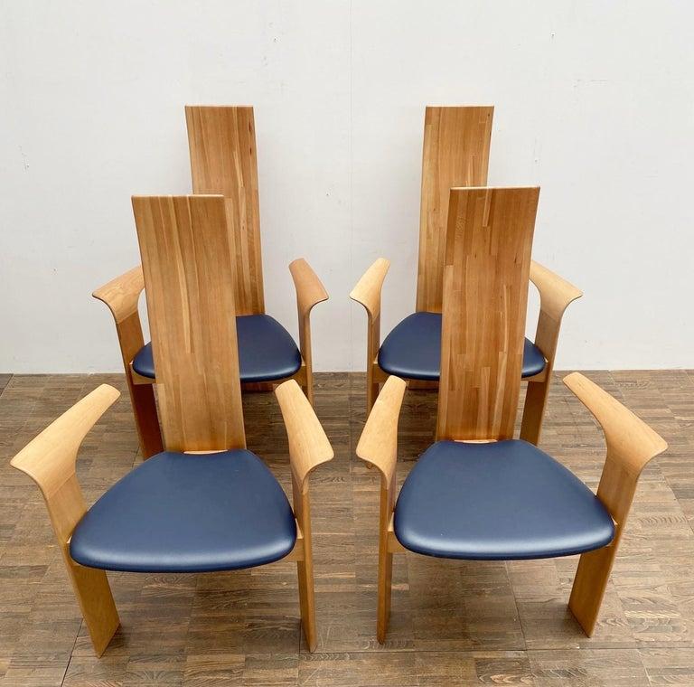 Set of 4 armchairs model ''Iris'' by Van Den Berghe Pauvers - Belgium 1960s.