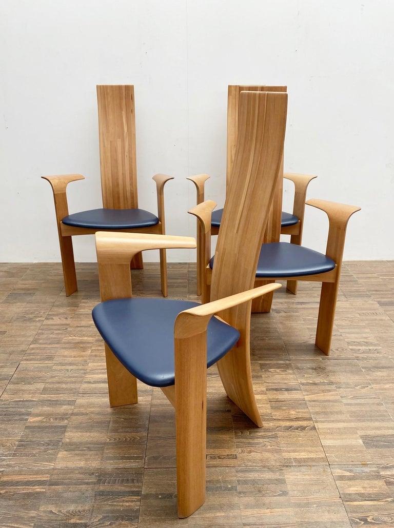 Belgian Set of 4 Armchairs Model ''Iris'' by Van Den Berghe Pauvers, Belgium 1960s