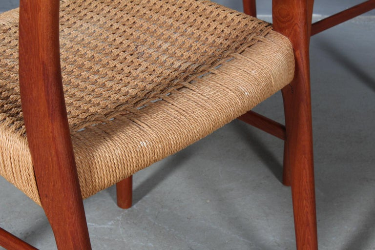 Set of 4 Arne Wahl Dining Chairs For Sale 3