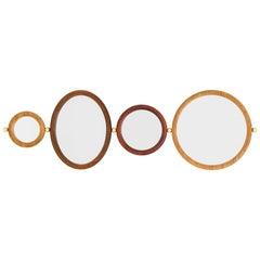 Set of 4 Aro Mirrors, Leandro Garcia, Contemporary Brazil Design