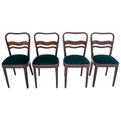 Set of 4 Art Deco Chairs, Poland, 1960s