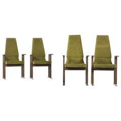 Set of 4 Art Deco Dining Armchairs, 1940s