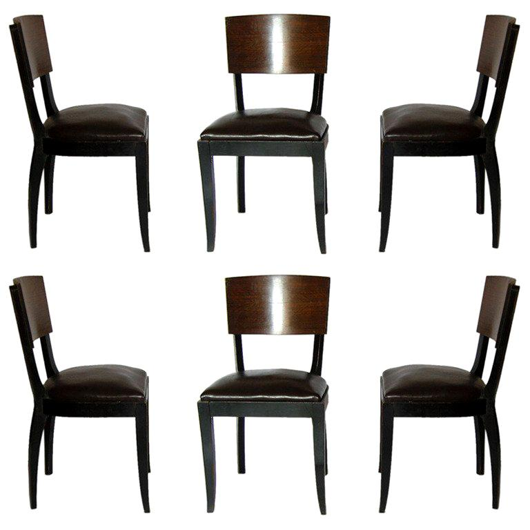 Set of 4 Art Deco Dining/side Chairs