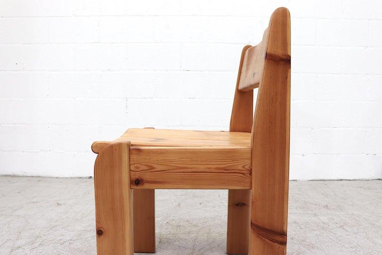 Set of 4 Ate Van Apeldoorn Style Pine Dining Chairs For Sale 4