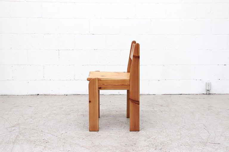 Dutch Set of 4 Ate Van Apeldoorn Style Pine Dining Chairs For Sale