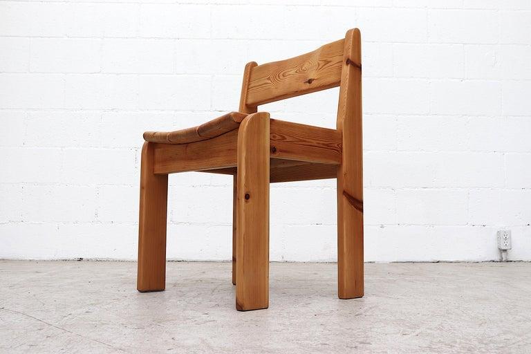 Set of 4 Ate Van Apeldoorn Style Pine Dining Chairs For Sale 1