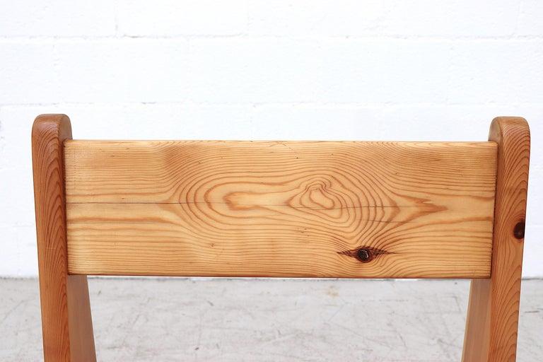 Set of 4 Ate Van Apeldoorn Style Pine Dining Chairs For Sale 2