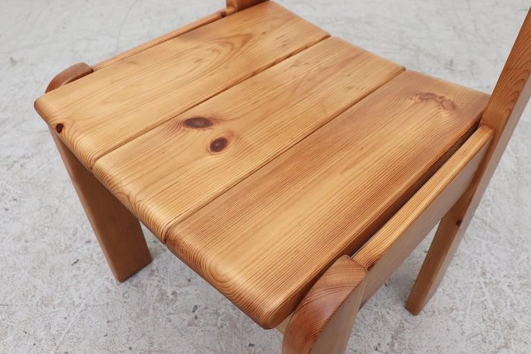 Set of 4 Ate Van Apeldoorn Style Pine Dining Chairs For Sale 3
