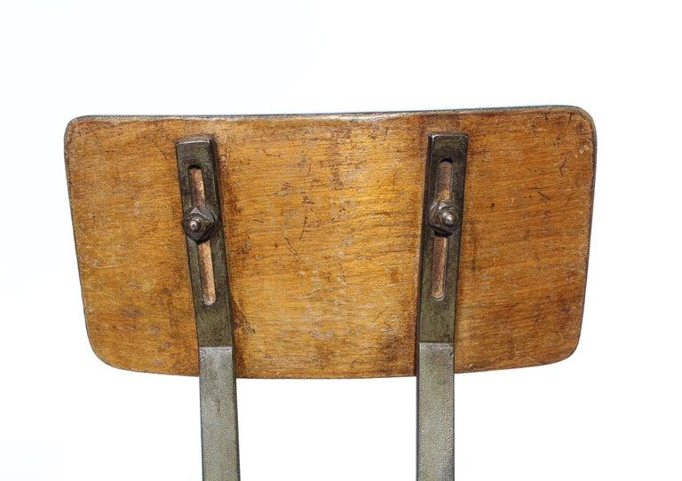Set of 4 Authentic Vintage Industrial Shop Stools For Sale 1