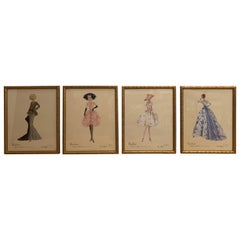 Set of 4 Barbie Fashion Model Collectible Prints