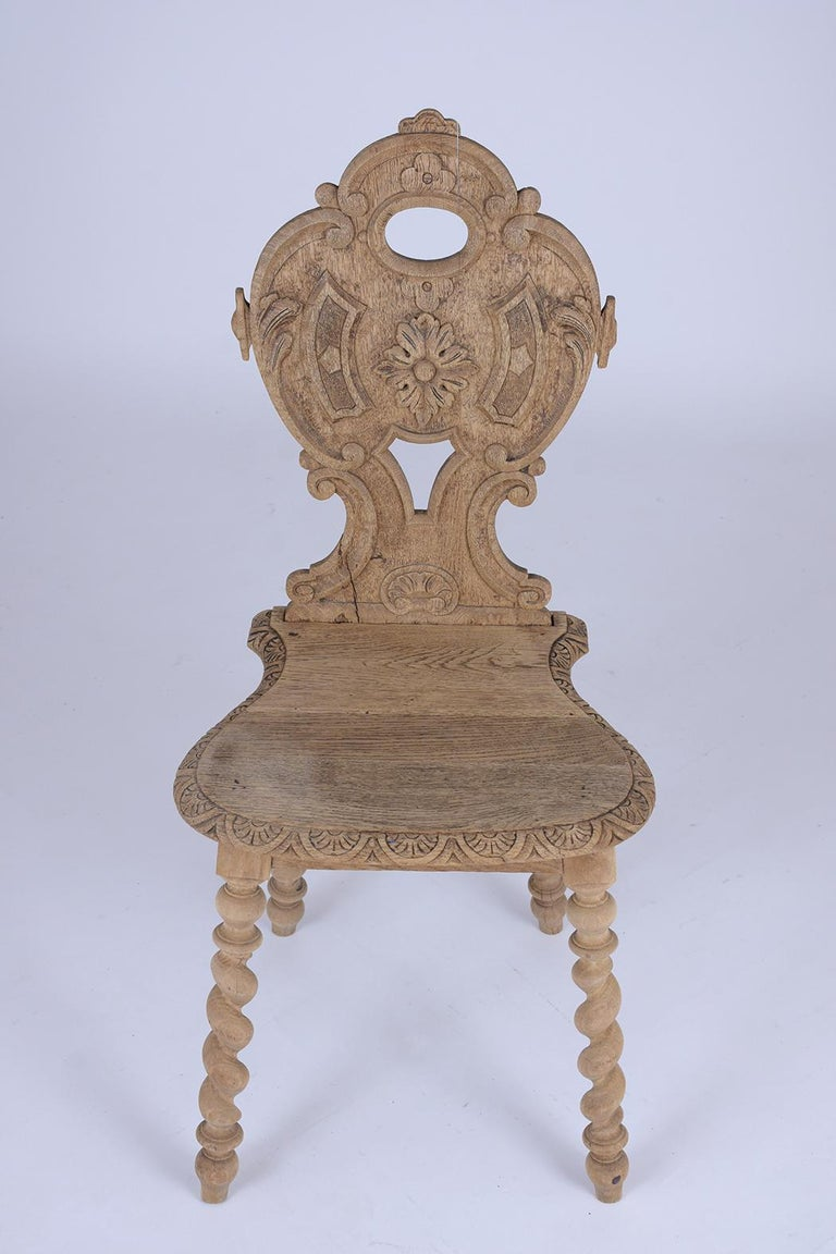 Set of Carved Baroque Chairs In Good Condition For Sale In Los Angeles, CA