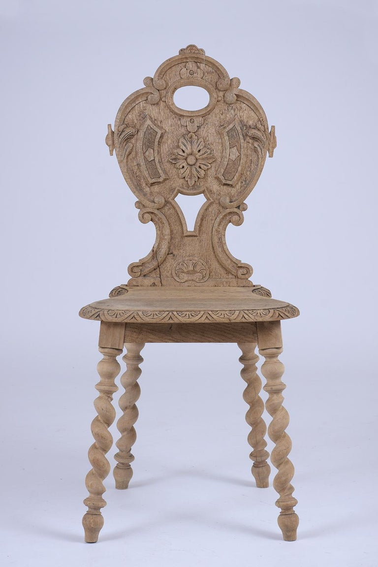 19th Century Set of Carved Baroque Chairs For Sale