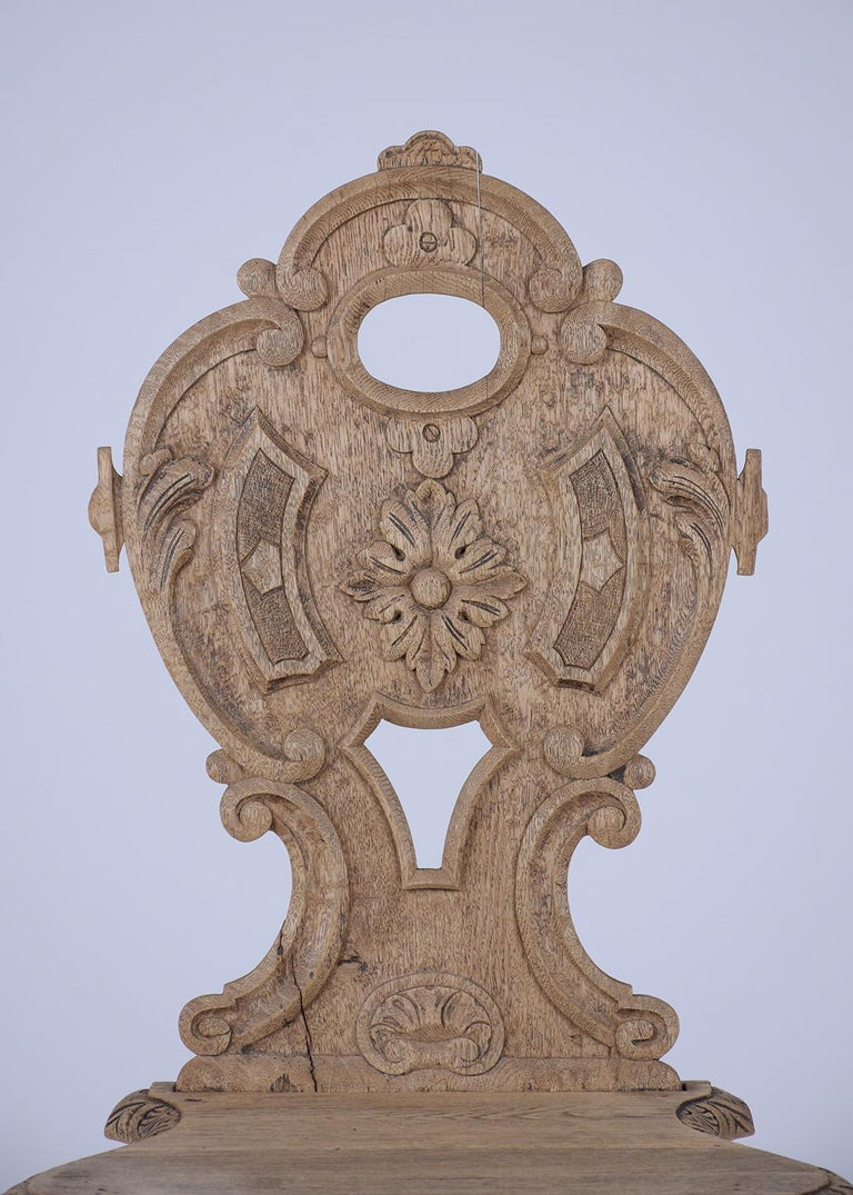 Iron Set of Carved Baroque Chairs For Sale