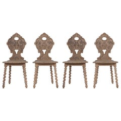 Set of Carved Baroque Chairs