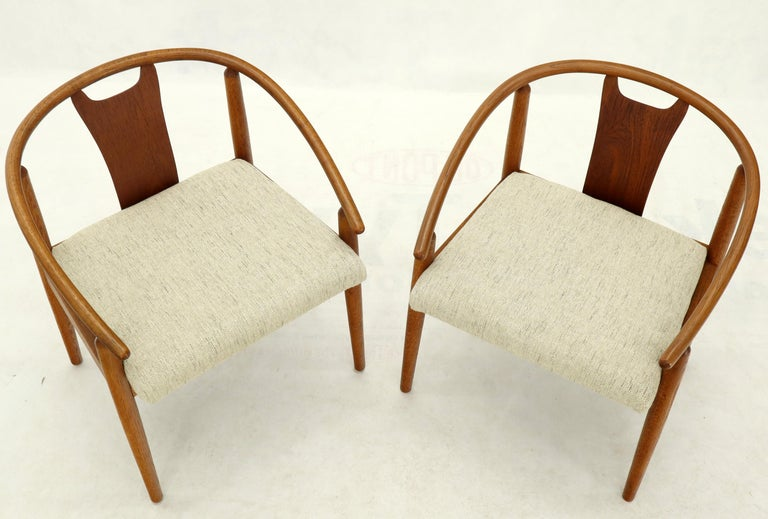 Set of 4 Barrel Back Bent Wood Dining Lounge Chairs New Upholstery For Sale 3