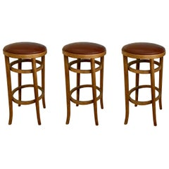 Set of 4 Barstools by Thonet
