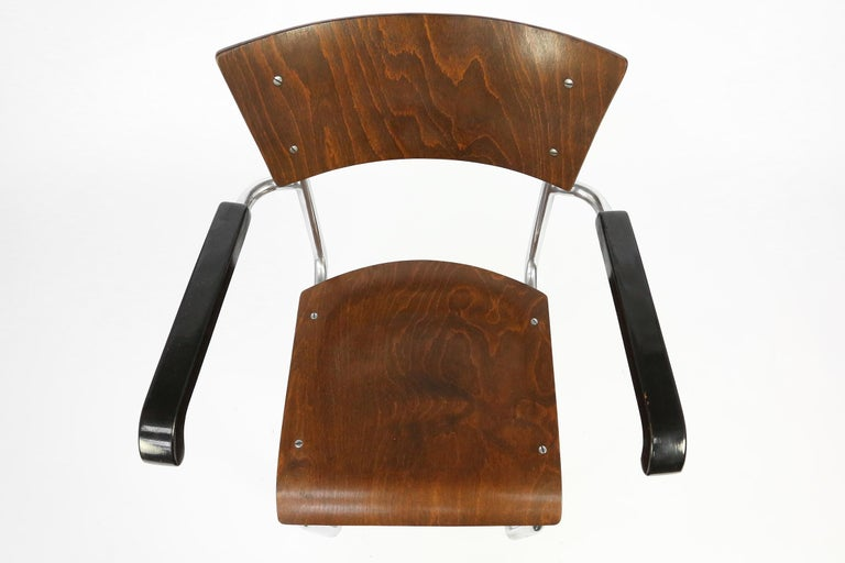 Set of 4 Bauhaus S43 Armchairs by Mart Stam for Thonet, 1930s For Sale 1