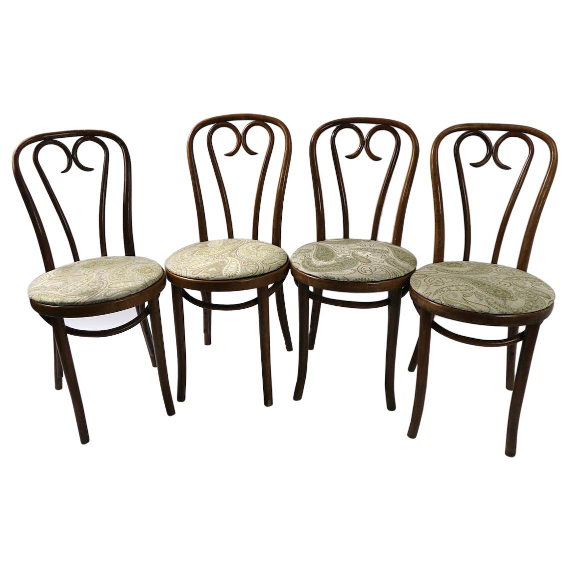 Set of 2 Bentwood Cafe Chairs Attributed to Thonet